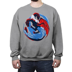The Dragon and the Wolf - Crew Neck Sweatshirt - Crew Neck Sweatshirt - RIPT Apparel