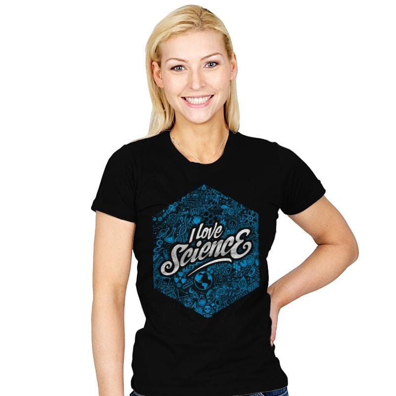 I Love Science - Womens - T-Shirts - RIPT Apparel