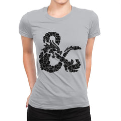 Dice & Dragons - Womens Premium - T-Shirts - RIPT Apparel