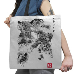 Attack of the Space Pirates Sumi-e - Sumi Ink Wars - Tote Bag - Tote Bag - RIPT Apparel