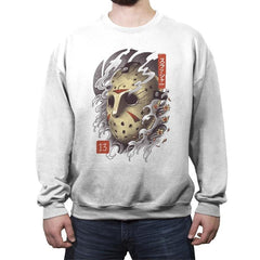 Oni Jason Mask - Crew Neck Sweatshirt - Crew Neck Sweatshirt - RIPT Apparel