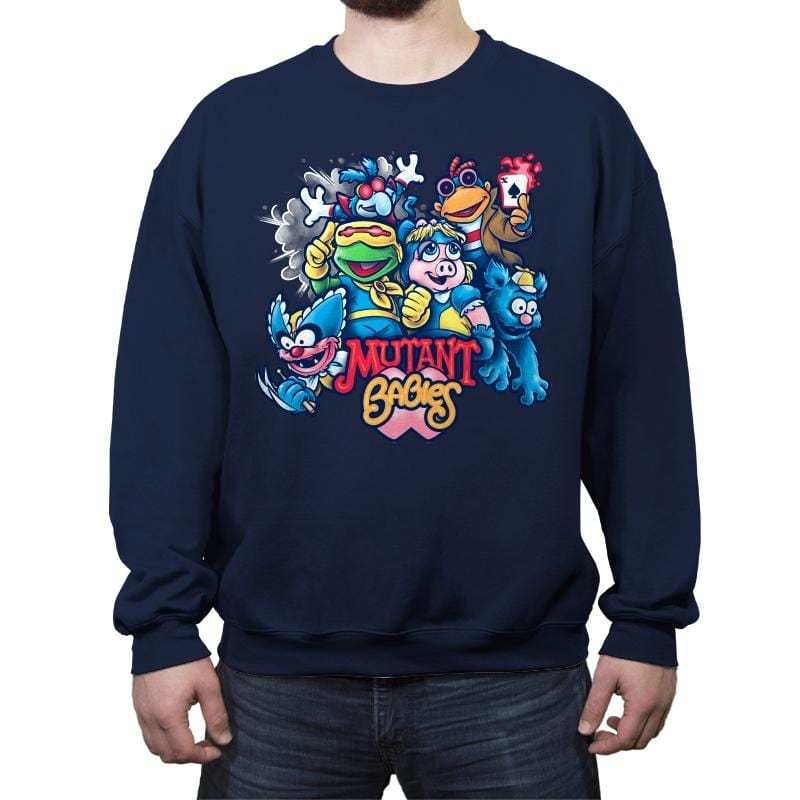 Mutant Babies - Crew Neck Sweatshirt - Crew Neck Sweatshirt - RIPT Apparel