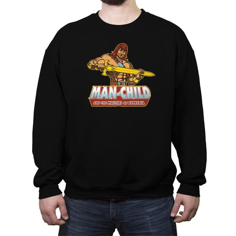 Man-Child - Crew Neck Sweatshirt - Crew Neck Sweatshirt - RIPT Apparel
