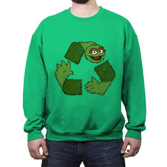 Oscar de Recycle - Crew Neck Sweatshirt - Crew Neck Sweatshirt - RIPT Apparel