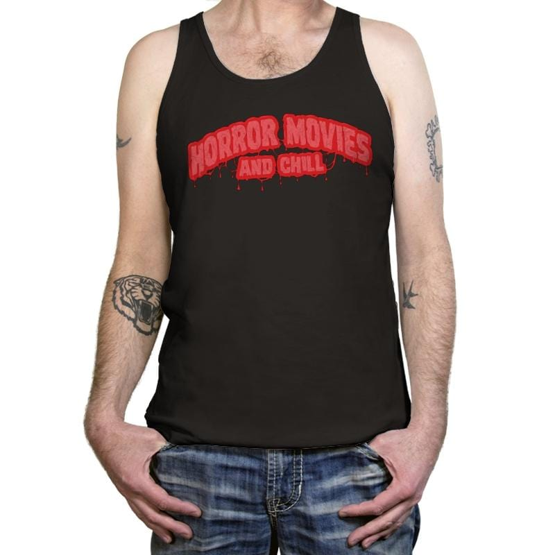 Horror Movies and Chill - Tanktop - Tanktop - RIPT Apparel