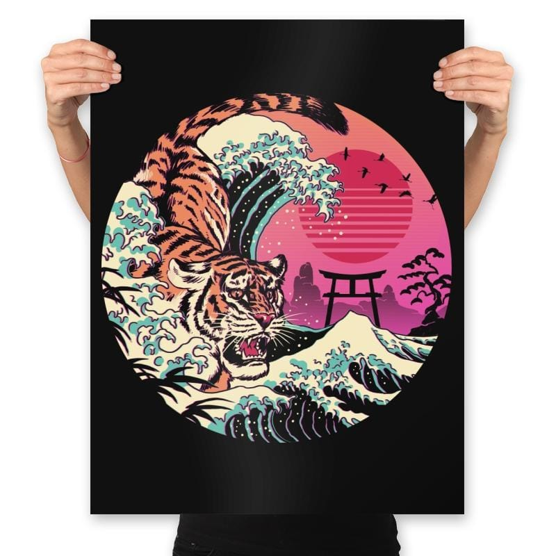 Rad Tiger Wave - Prints - Posters - RIPT Apparel