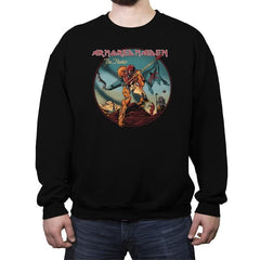 Armored Maiden: The Hunter Reprint - Crew Neck Sweatshirt - Crew Neck Sweatshirt - RIPT Apparel