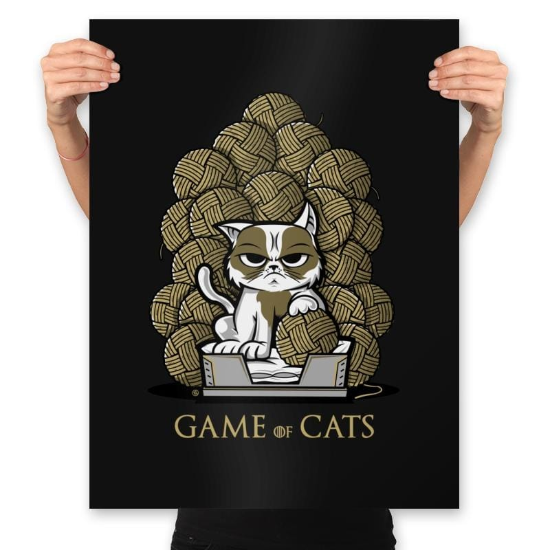 Game Of Cats - Prints - Posters - RIPT Apparel