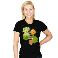 Three Broly Moon - Womens - T-Shirts - RIPT Apparel