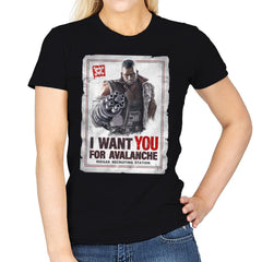 Avalanche Needs You - Womens - T-Shirts - RIPT Apparel