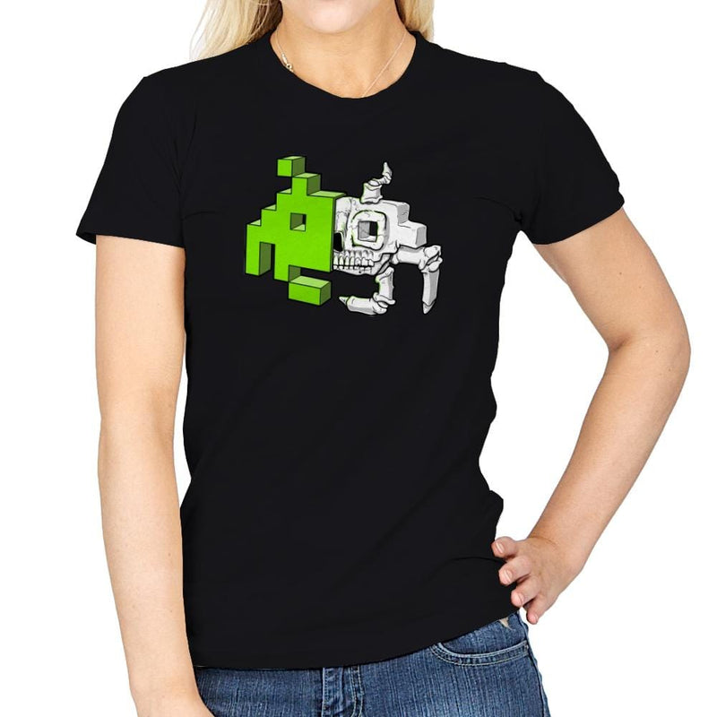 Space Invader Anatomy Exclusive - Womens - T-Shirts - RIPT Apparel