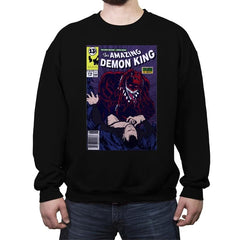 The Amazing Demon King - Crew Neck Sweatshirt - Crew Neck Sweatshirt - RIPT Apparel