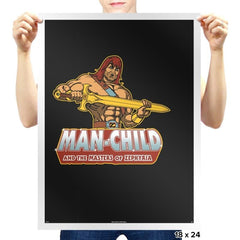 Man-Child - Prints - Posters - RIPT Apparel