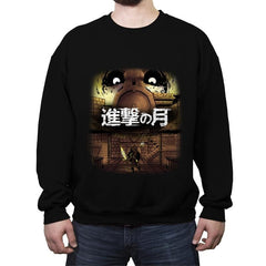 Attack on Moon  - Crew Neck Sweatshirt - Crew Neck Sweatshirt - RIPT Apparel