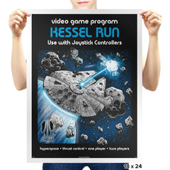 Kessel Run Video Game - Prints - Posters - RIPT Apparel