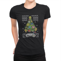 A Classic Gamers Christmas - Ugly Holiday - Womens Premium - T-Shirts - RIPT Apparel