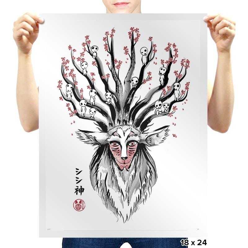 The Deer God Sumi-E - Sumi Ink Wars - Prints - Posters - RIPT Apparel