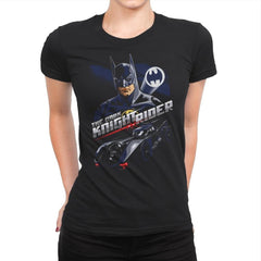 The Dark Knight Rider - Womens Premium - T-Shirts - RIPT Apparel
