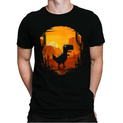 No Internet Dino - Mens Premium - T-Shirts - RIPT Apparel