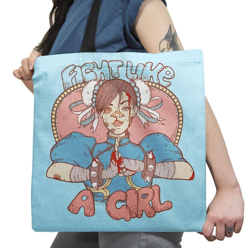 Fight Like A Girl Exclusive - Tote Bag - Tote Bag - RIPT Apparel