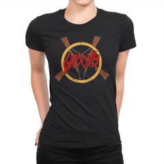 Groovy Demon Slayer - Womens Premium - T-Shirts - RIPT Apparel
