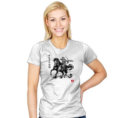Wild Hunter Sumi-e - Sumi Ink Wars - Womens - T-Shirts - RIPT Apparel