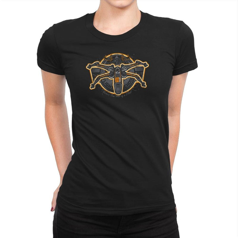 Poe's Flight School Exclusive - Womens Premium - T-Shirts - RIPT Apparel