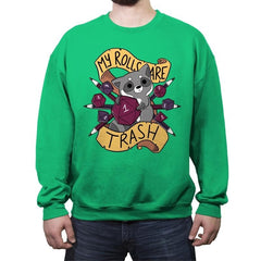 RPG Raccoon - Crew Neck Sweatshirt - Crew Neck Sweatshirt - RIPT Apparel