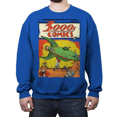 3000s Comics - Crew Neck Sweatshirt - Crew Neck Sweatshirt - RIPT Apparel