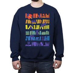 Library Kittens - Crew Neck Sweatshirt - Crew Neck Sweatshirt - RIPT Apparel