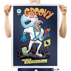Groovy Space Adventures Reprint - Prints - Posters - RIPT Apparel