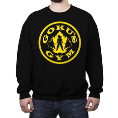 Goku's Gym - Crew Neck Sweatshirt - Crew Neck Sweatshirt - RIPT Apparel