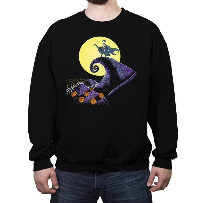 Bat Skellington  - Crew Neck Sweatshirt - Crew Neck Sweatshirt - RIPT Apparel
