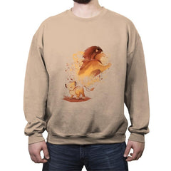 Lion Evolution - Crew Neck Sweatshirt - Crew Neck Sweatshirt - RIPT Apparel