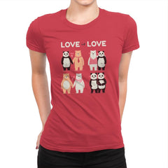 Love Is Love  - Womens Premium - T-Shirts - RIPT Apparel