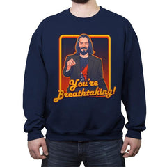 You're Breathtaking! - Anytime - Crew Neck Sweatshirt - Crew Neck Sweatshirt - RIPT Apparel