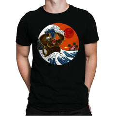 Great Monster From Kanagawa - Mens Premium - T-Shirts - RIPT Apparel