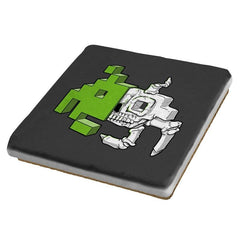 Space Invader Anatomy - Coasters - Coasters - RIPT Apparel