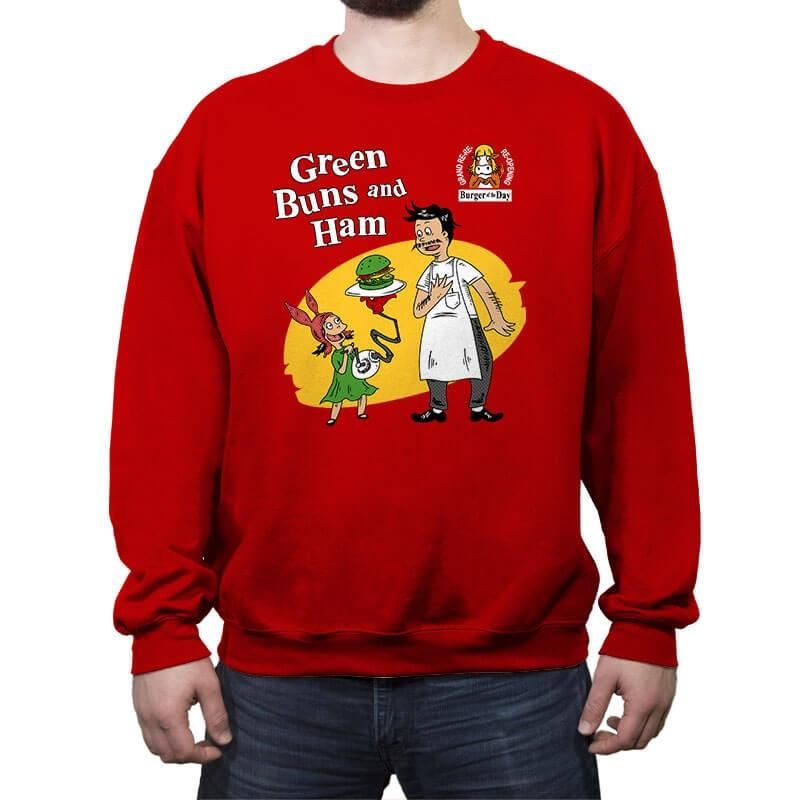 Green Buns and Ham - Crew Neck Sweatshirt - Crew Neck Sweatshirt - RIPT Apparel