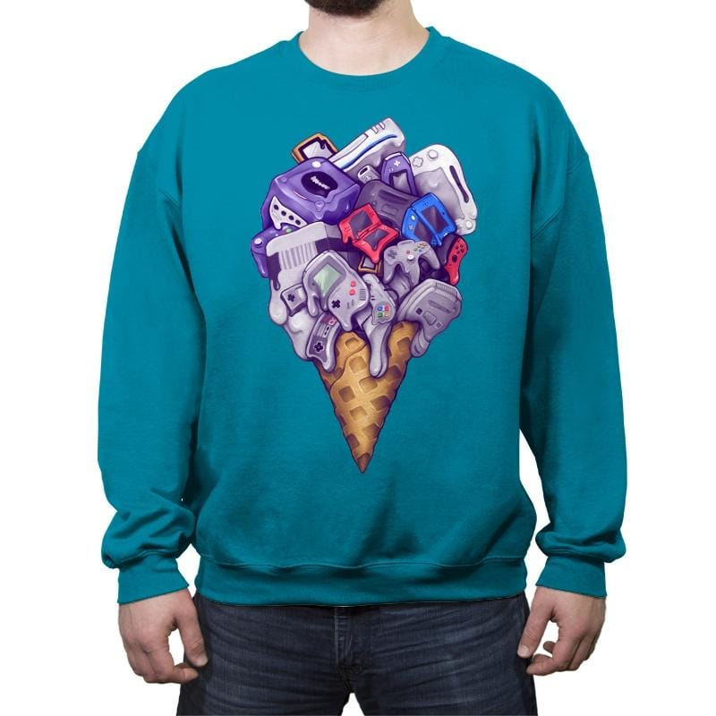 Ice Cream Conesoles - Crew Neck Sweatshirt - Crew Neck Sweatshirt - RIPT Apparel