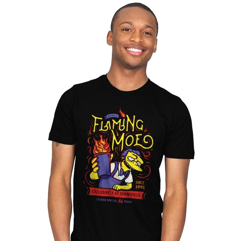 Flaming Moe - Mens - T-Shirts - RIPT Apparel
