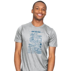 Time Machine Technical Blueprint - Mens - T-Shirts - RIPT Apparel