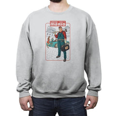 Grand Theft Mario: Mushroom City - Crew Neck Sweatshirt - Crew Neck Sweatshirt - RIPT Apparel