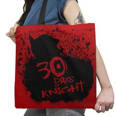 30 Days of Knight Exclusive - Tote Bag - Tote Bag - RIPT Apparel