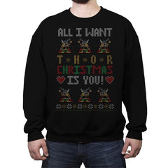 I Wish Thor You - Ugly Holiday - Crew Neck Sweatshirt - Crew Neck Sweatshirt - RIPT Apparel