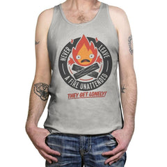 Lonely Fire Demon - Tanktop - Tanktop - RIPT Apparel