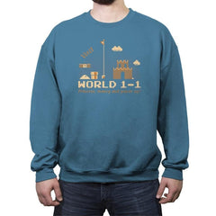 WORLD 1-1 - Crew Neck Sweatshirt - Crew Neck Sweatshirt - RIPT Apparel