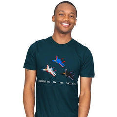 Robots in the Skies - Mens - T-Shirts - RIPT Apparel