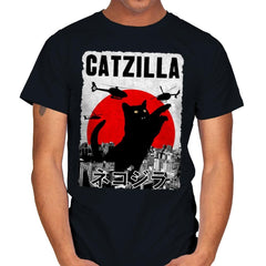 Catzilla City Attack - Mens - T-Shirts - RIPT Apparel