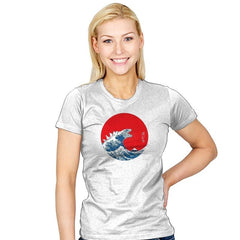 Hokusai Kaiju Reprint - Womens - T-Shirts - RIPT Apparel